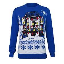 wars r2 d2 lights sweater