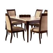 Dining Tables With Marble Tops Steve Silver Company Marseille Marble Top Dining Table In Cherry
