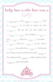 bridal mad libs wedding vows disney mad libs disney weddings