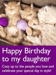 adorable cat happy birthday card for birthday