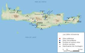 Ancient Map Of Greece by Map Of Minoan Crete