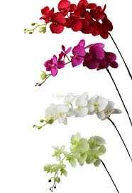 artificial orchids artificial orchid flowers stem flowers single vanda