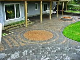 Simple Backyard Patio Ideas Patio Ideas Pleasant Brick Patio Designs With Fire Pit For Home
