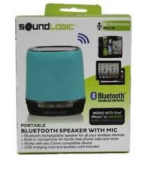 bluetooth speaker sound logic portable teal mic built in iphone - Android Bluetooth Speaker