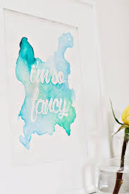 Easy Diy Bedroom Wall Art Watercolor Phrase Wall Art Diy Click Through For Tutorial A