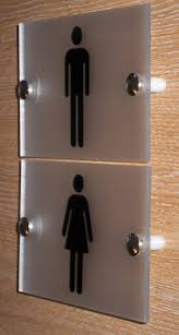 contemporary toilet sign plaque quality frosted acrylic