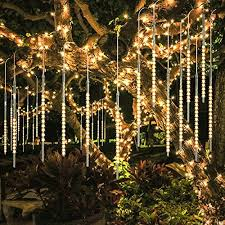 christmas lights that look like snow falling bluefire upgraded 50cm 10 tubes 540 led meteor shower rain lights