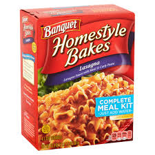 banquet homestyle bakes u2013 lasagna complete meal kit my meals are