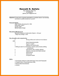 resume undergraduate resume template for undergraduate students