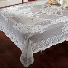 sharon oblong or round lace tablecloths