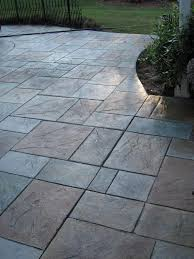 Seamless Stamped Concrete Pictures by Colored Stamped Concrete Patio With Fire Pit House Pinterest