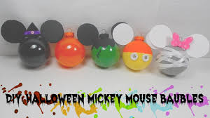 mickey mouse halloween stencil diy mickey mouse halloween bauble decor youtube