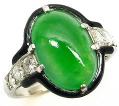 113 best jadeite ring art deco images on pinterest rings