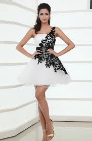 black and white dresses 2014 black and white lace organza homecoming dresses