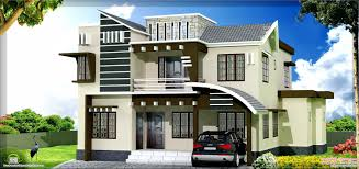 home design 1500 sq ft 4 bedroom sloping roof mix modern home design by