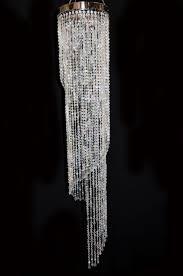 diamond chandelier 8 x 48 spiral acrylic chandelier