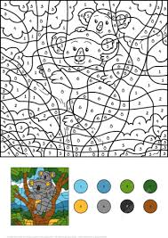 koala color number free printable coloring pages