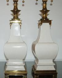 pair of vintage stiffel crackle glazed lamps swank lighting