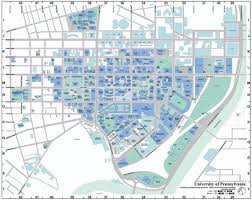 Penn State Parking Map Upenn Campus Map Map Of Upenn Campus Pennsylvania Usa