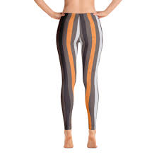 black and orange striped halloween leggings women u0027s active pants