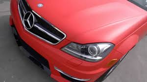 car mercedes red mercedes benz c63 wrapped in 3m matte red by impressive wrap youtube