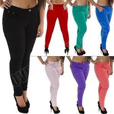 High Waisted Jeggings Plus Size New Womens High Waisted Colour Jeans Jeggings Skinny Plus Size 12