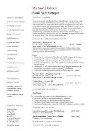 Territory Manager Job Description Resume Sales Resume Retail Sales Manager Job Description Retail Sales