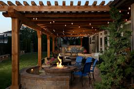 Outdoor Living Space Has Everything But The Kitchen Sink - Everything and the kitchen sink