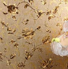 compare prices on gold metallic floral wallpaper online shopping