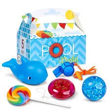 sesame street pool party filled themed favor boxes birthdayexpress com