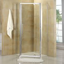 architecture modern bathroom design with corner shower stalls and