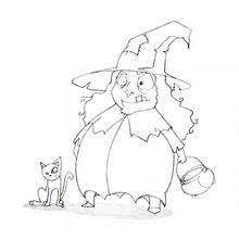 scary witch u0027s head coloring pages hellokids com
