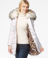 laundry by shelli segal laundry by shelli segal faux fur puffer coat coats