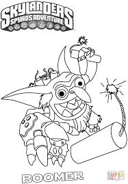 skylanders spyro u0027s adventure boomer coloring page free printable