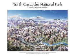 Cascade Mountains Map Labelled Illustration Of North Cascade National Park Photos