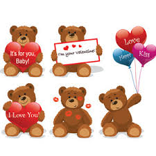 valentines bears teddy bears vector freevectors net