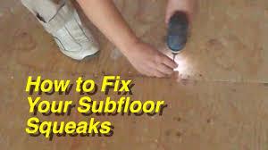 Repair Damaged Laminate Floor How To Fix Your Plywood Subfloor Squeaks For Laminate Flooring