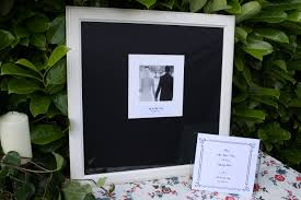 wedding signing frame wedding guest signing frame b w precious days