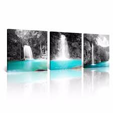 waterfalls for home decor aliexpress com buy 3 pieces beautiful mountain waterfalls wall