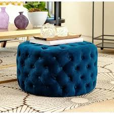 Ottoman Sale Chair With Ottoman Blue Tufted Velvet Ottoman Chair