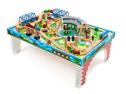 thomas the train wooden track table thomas friends wooden railway tidmouth sheds deluxe set with
