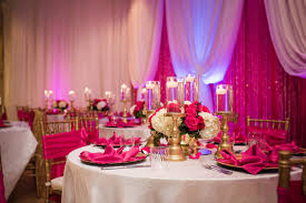 pink white gold wedding event decor banquet llc