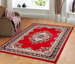 traditional oriental medallion area rug persian style carpet red