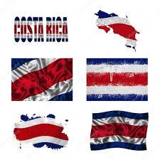 Costarican Flag Costa Rica Flag Collage U2014 Stock Photo Ruletkka 18025485
