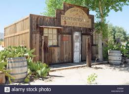 view of nice stylish authentic house front in wild west