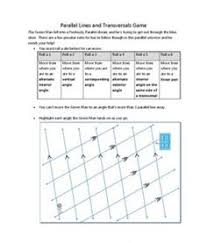 parallel lines with transversals extra practice worksheet free