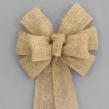 burlap ribbon bow burlap rustic wreath bow 2 sizes package bows