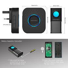 wireless doorbell system with light indicator wireless doorbell tecknet cordless door chime kit ip55 with led