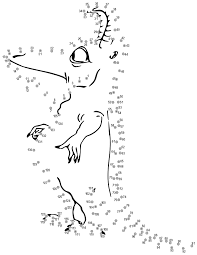 connect dots monster education coloring pages connect the dots