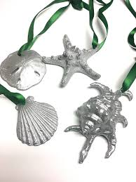 seashell ornaments 4 silver seashell ornaments silver